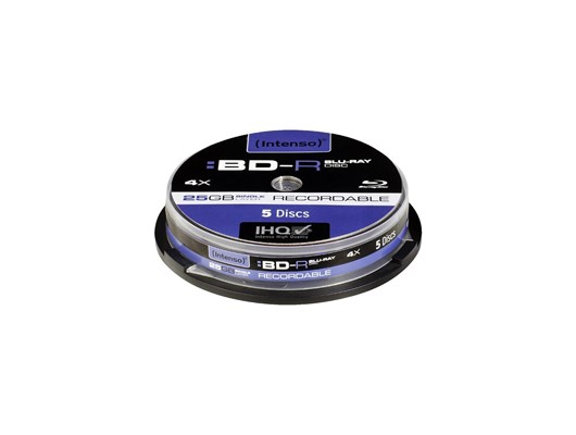 Intenso BD-R Recordable Cakebox 25GB 4x (5 Pack)
