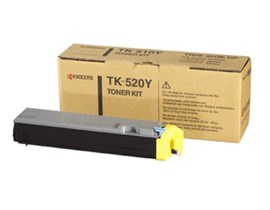 Kyocera TK-520Y (Yield: 4,000 Pages) Yellow Toner Cartridge