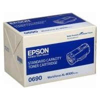 Epson 0690 Standard Capacity Black Toner Cartridge (Yield 2700 Pages) for WorkForce AL-M300D/AL-M300DN Laser Printers