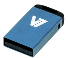 V7 Nano 32GB USB 2.0 Drive (Blue)