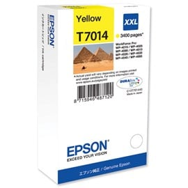 Epson Pyramid T7014 XXL (Yield: 3,400 Pages) Extra High Yield Yellow Ink Cartridge