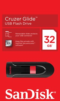 Sandisk Cruzer Glide 32GB USB 2.0 Flash Stick Pen Memory Drive