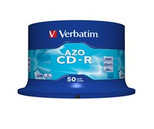 Verbatim CD-R 700MB 80 Minute 52x Crystal Super AZO