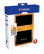 "Verbatim 500GB 2.5"" USB 3.0 Black"
