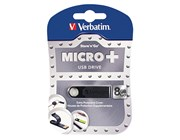 Verbatim Micro Plus 8GB USB Drive - USB 2.0 Black
