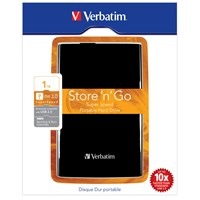 Verbatim Store n Go  1TB Mobile External Hard Drive in Black