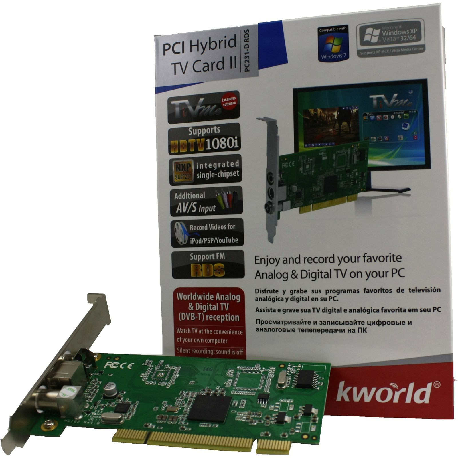 Kworld Pc231 D Rds Pci Hybrid Tv Card Ii Ccl Computers Moouse Toshiba Kw