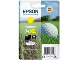 Epson Golf Ball 34XL T3474 (Yield 950 pages) DURABrite Ultra Yellow 10.8ml Ink Cartridge