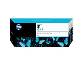 HP 81 Cyan Dye Ink Cartridge (680ml) for the 5000 and 5000PS