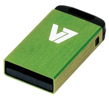 V7 Nano 8GB USB 2.0 Drive (Green)