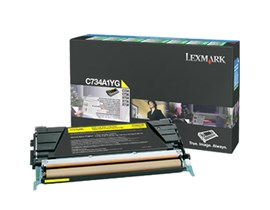 Lexmark Return Program C734A1YG (Yield: 6,000 Pages) Yellow Toner Cartridge