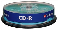 Verbatim (700MB) CD-R Extra Protection 52x Spindle Pack of 10