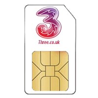 3 Pay As You Go (3GB) Mobile Broadband Trio SIM Card