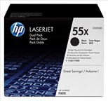 Bundle: HP 55X Black Smart Print Cartridge (Yield 12,500 Pages) Dual Pack for HP LaserJet P3015