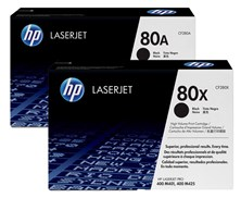 HP 80X (Yield: 6,900 Pages) High Yield Black Toner Cartridge Pack of 2