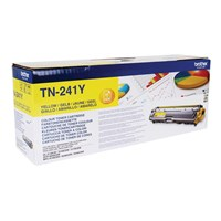 Brother TN-241Y (Yield: 1,400 Pages) Yellow Toner Cartridge