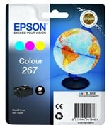 Epson 267 (6.7ml) Colour Ink Cartridge Cyan/Magenta/Yellow (Single Pack) for WorkForce WF-100W Printer