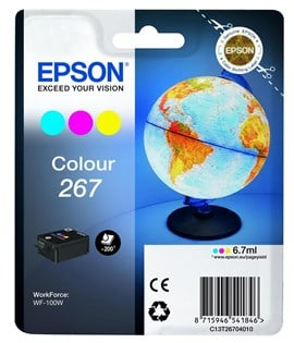 Epson Globe 267 (Yield 200 Pages) Tri-colour Ink Cartridge (Cyan/Magenta/Yellow)