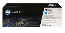 HP 305A Cyan Smart Print Cartridge (Yield 2,600 Pages)