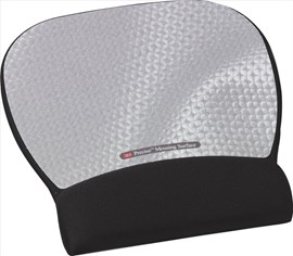 3M Precise MW311MX (22.1cm x 23.4cm) Optical Mouse Pad with Gel Wrist Rest (Silver)