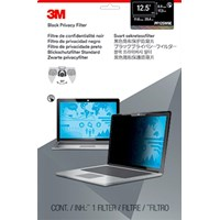 3M PF125W9E Frameless Black Privacy Filter with Touch Compatibility for 12.5 inch Edge-to-Edge Widescreen Laptops - 7100095967