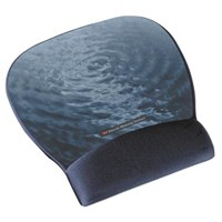 3M Precise MW311BE (22.1cm x 23.4cm) Mousing Surface (Blue-water Design) with Fabric Gel Wrist Rest