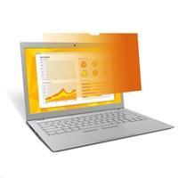 3M GF121W1B Frameless Gold Privacy Filter for 12.1 inch Widescreen Laptops - 98044054934