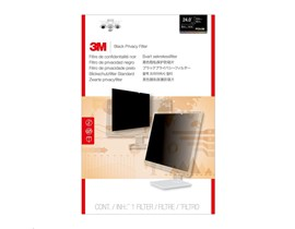 3M PF240W1B Frameless Black Privacy Filter for 24.0 inch Widescreen Monitors (16:10) - 98044054181 / 7100026029 (Legacy Code PF24.0W)