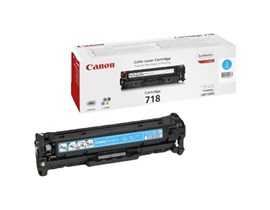 Canon 718 (Yield: 2,900 Pages) Cyan Toner Cartridge