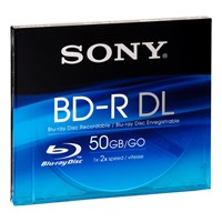 Sony BNR50A Blu-ray 50GB BD-R Dual Layer Storage Media + Vaio Sticker
