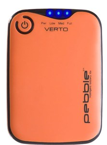 Veho PEBBLE Verto (3700mAh) Portable Battery Charger (Orange)