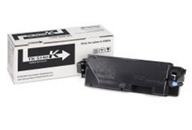 Kyocera TK-5140K Black Toner Cartridge for ECOSYS M6030cdn, M6530cdn, P6130cdn Printers (Yield 7,000 Pages) including Container