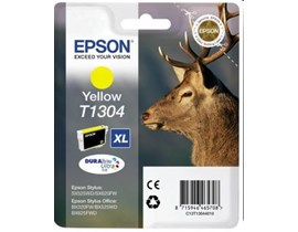 Epson Stag XL T1304 (Yield 1005 pages) Yellow 10.1ml Ink Cartridge (RF Tag) for BX320FW/BX525WD/BX625FWD/SX525WD/SX620FW