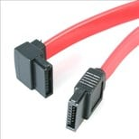 StarTech.com 12 inch SATA to Left Angle SATA Serial ATA Cable (Red)
