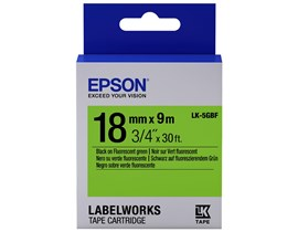Epson LK-5GBF (18mm x 9m) Label Cartridge (Black on Fluorescent Green) for LabelWorks Label Makers