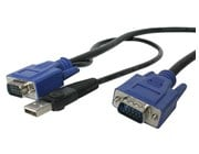 StarTech.com Ultra Thin USB VGA 2-in-1 KVM Cable (3m)