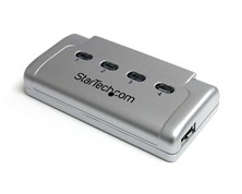 StarTech.com 4-to-1 USB 2.0 Peripheral Sharing Switch (Silver)