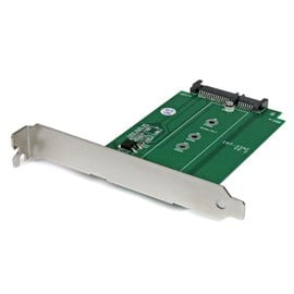 StarTech.com M.2 to SATA SSD Adapter Expansion Slot Mounted