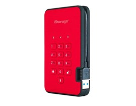 iStorage diskAshur2 (4000GB) Solid State Drive USB 3.1 Encrypted 256-bit (Fiery Red)