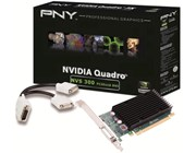 PNY NVIDIA NVS 300 Graphics Card 512MB DDR3 PCI-Express 2.0 x16 with DMS59 to Dual DVI (Single Link) Adaptor Cable (Retail)