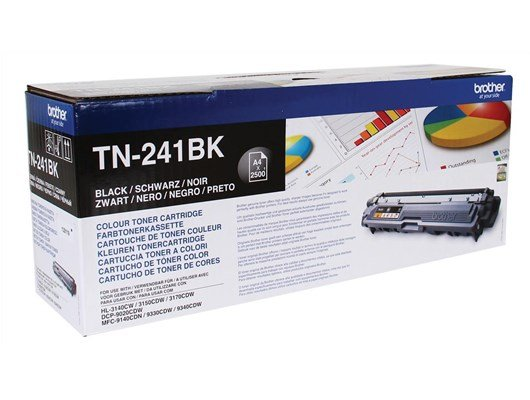 Brother TN-241BK (Yield: 2,500 Pages) Black Toner Cartridge