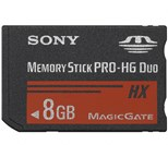 Sony 8GB Memory Stick Pro Duo Card