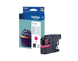 Brother LC123M (Yield: 600 Pages) Magenta Ink Cartridge