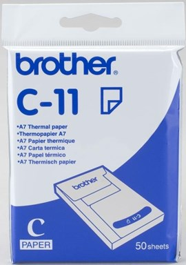 Brother C11 (A7) 74 x 105 mm Thermal Paper (50 Sheets)