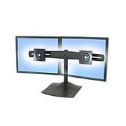 Ergotron DS100 Dual Monitor Desk Stand - Horizontal (Black)