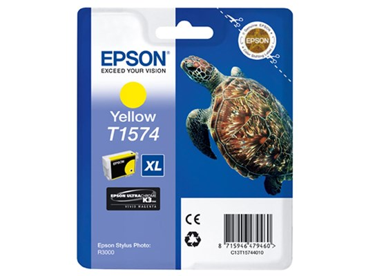 Epson Turtle T1574 (25.9ml) Ink Cartridge (Yellow)