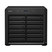 Synology DX1215 (0TB) 12-Bay Desktop Expansion Enclosure with 24TB (12 x 2TB) WD RED PRO Hard Drives