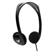 V7 HA300 Standard Lightweight Stereo Headphones