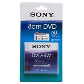 Sony DMW60A 8cm 60 min 2.8GB Double Sided DVD-RW (Single)