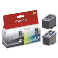 Canon PG-40/CL-41 (Yield: 490 Black/312 Colour Pages) Black/Cyan/Magenta/Yellow Ink Cartridge Pack of 2